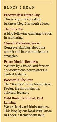 Blogs i read