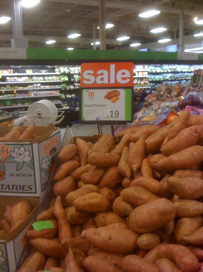 Sweet potatoes at Meijers in East Lansing on Lake Lansing Road