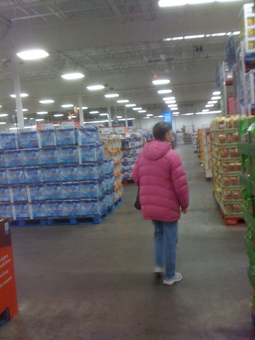 Walking the aisles at Sam's Club in south Lansing
