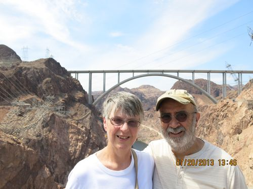 My wife and I at Hoover Dam with our Las Vegas kids.