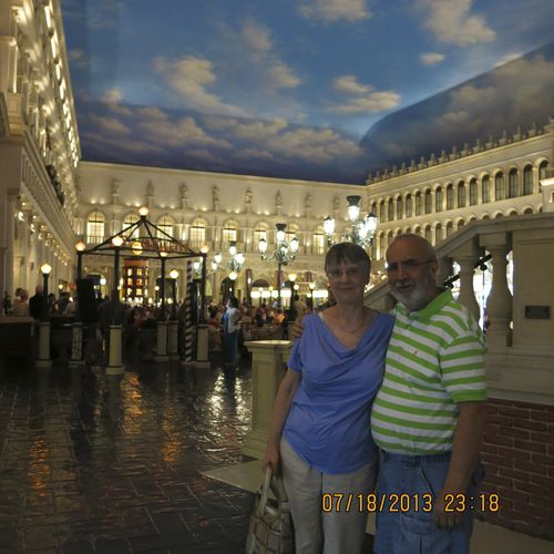 We pose at the Venetian.