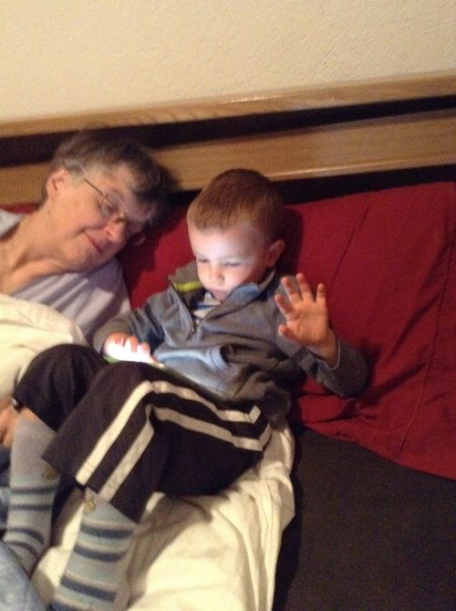 One grandson and two iPads
