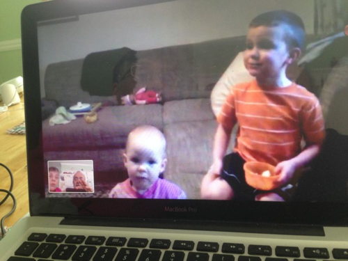 This shows that Face Time is a real gift to grandparents.