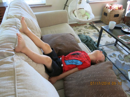 My grandson shows how he views the world.