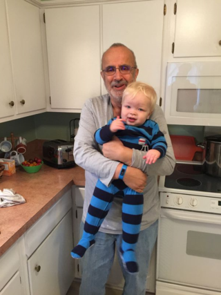 Me and my youngest grandson.