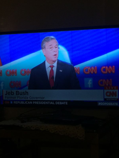 Jeb Bush during last night's debate.