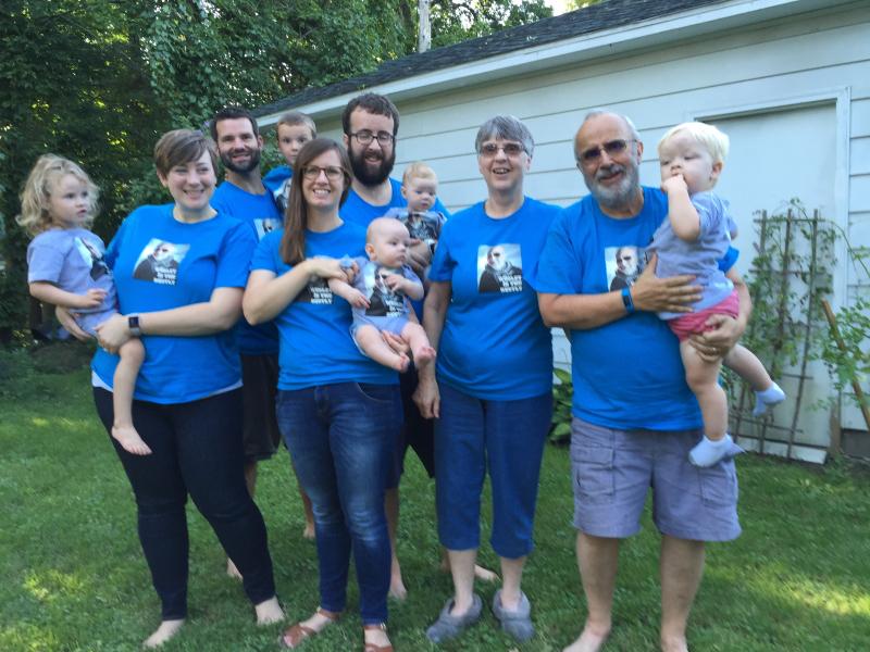 My family celebrates my 70th birthday
