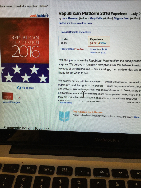 Republican and Democratic national platforms