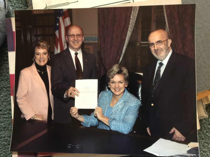 Bill signing picture.