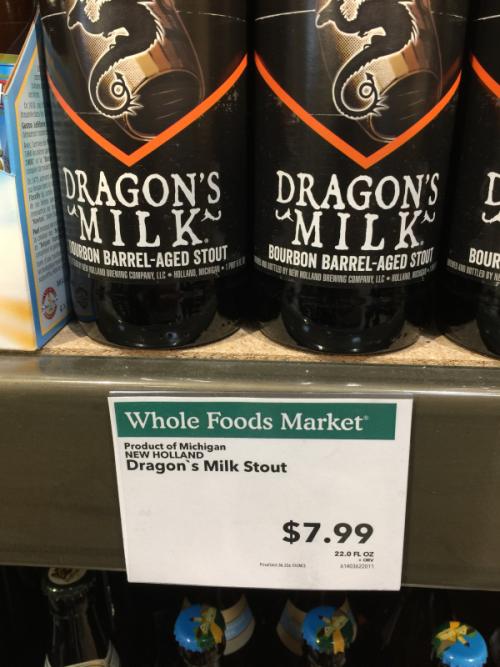 Dragon's Milk craft beer.