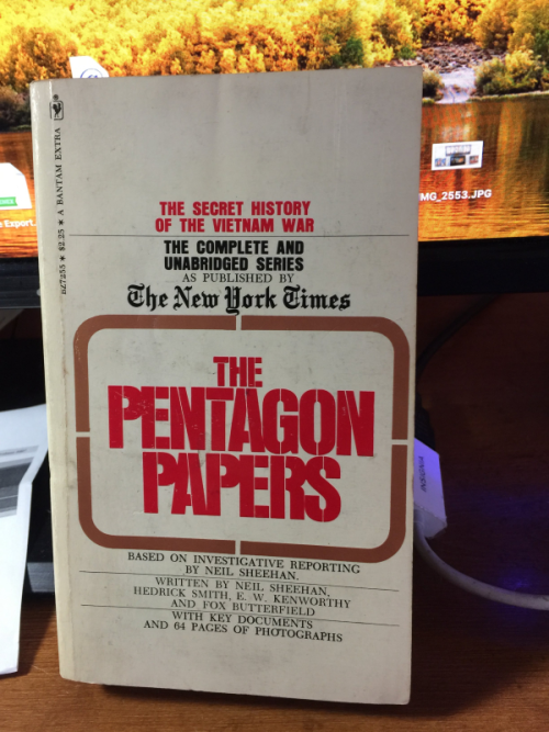 My copy of the Pentagon Papers