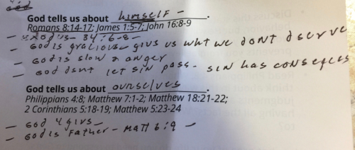 My sermon notes.