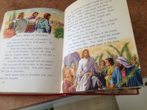 This Bible story book was given to me as a child in 1950.