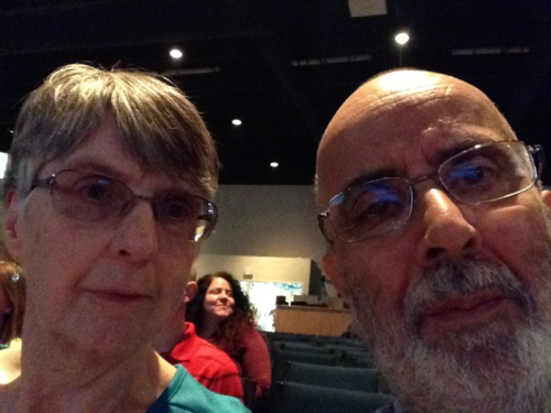 A selfie with my wife at Ada Bible Church