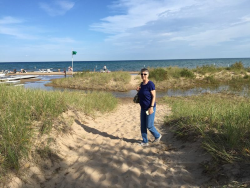 The beach at Tawas City on Lake Michigan