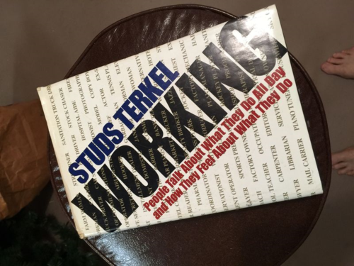 Picture of the cover of Studs Terkel's book Working