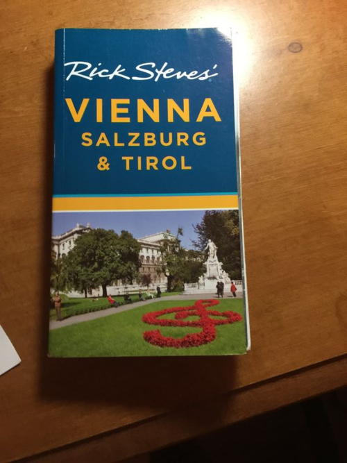 Rick Steves' guidebook for Vienna