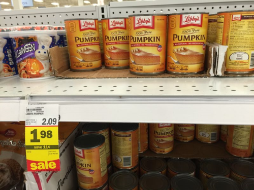 Are people hoarding pumpkin for pies?