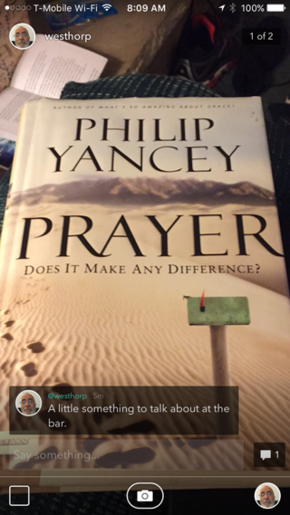 A picture of the cover of the book Prayer.