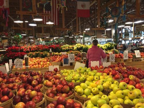 Big mounts of apples at Horrocks.