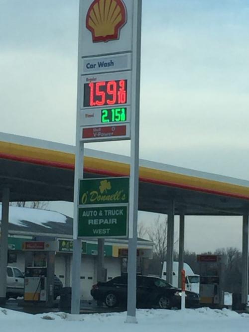 Gas for $1.59 per gallon in Lansing.