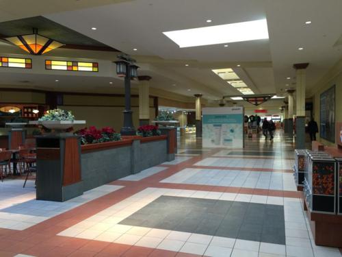 Walking at the Lansing Mall.