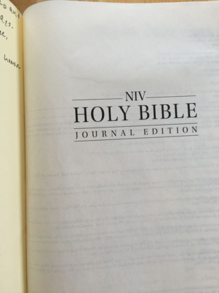 My new Bible.