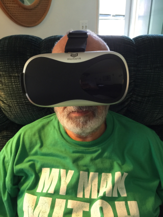 Me and my virtual reality viewer