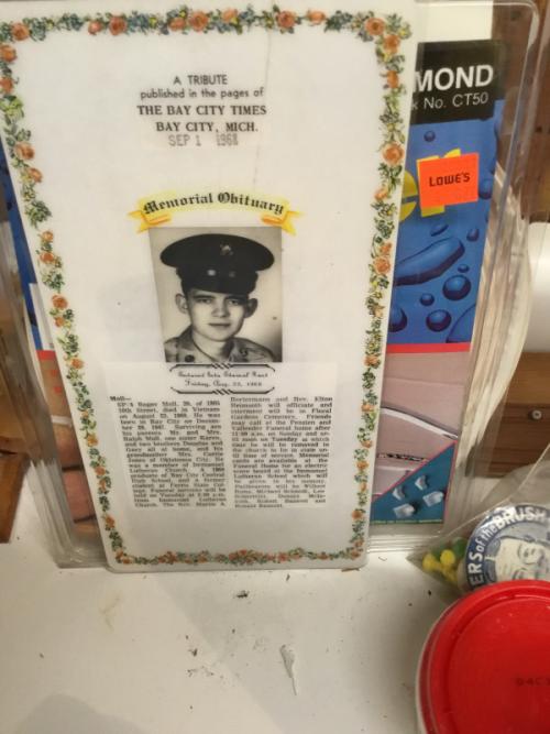 M cousin's obituary .