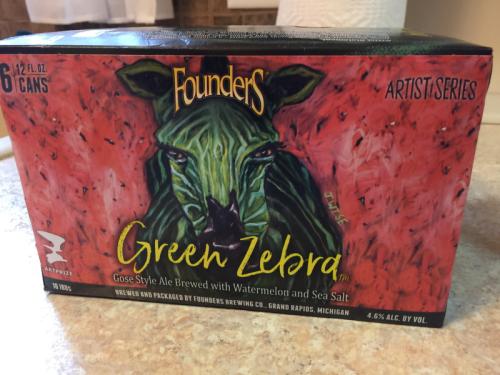 Founders Green Zebra beer