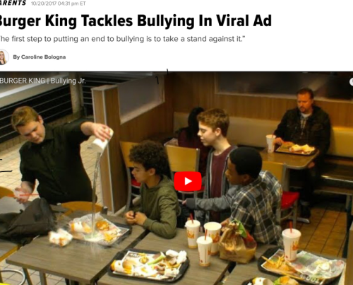 Burger King bullying video.