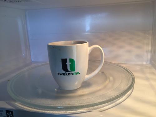 A very special coffee mug from my church, Trinity-Lansing