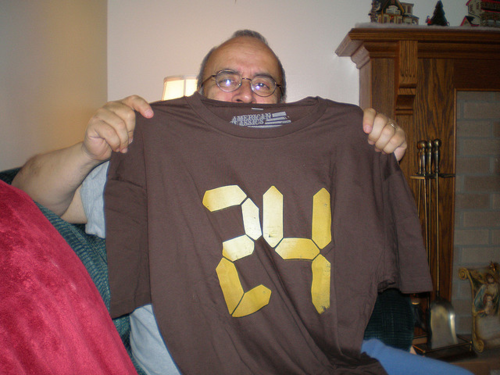 "Me and my ""24"" t-shirt."