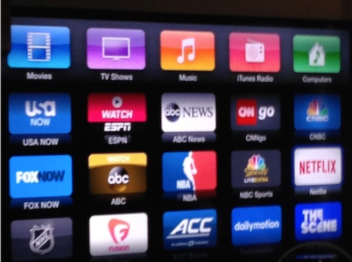 These are the television outlets available through Apple TV.