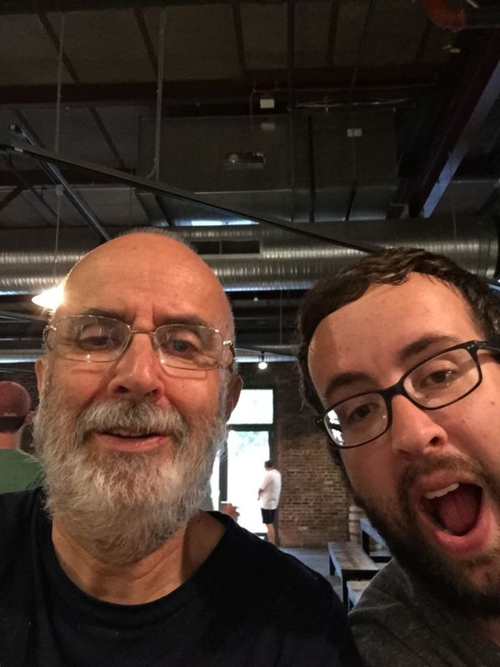 A selfie with my 31-year-old son taken at a favorite craft brewery