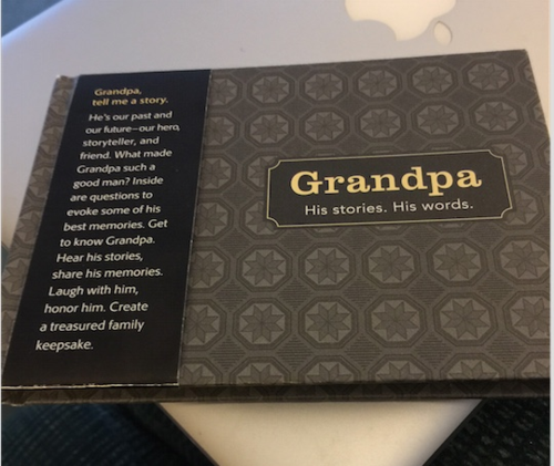 This is my Grandpa memory book for my grandson Miles