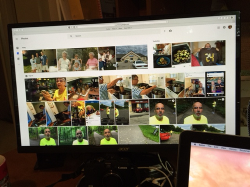 This is my computer screen of snapshots.