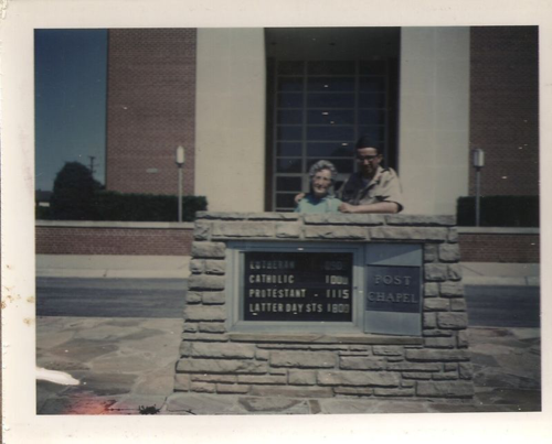 My mom and me at Fort Leonard Wood.
