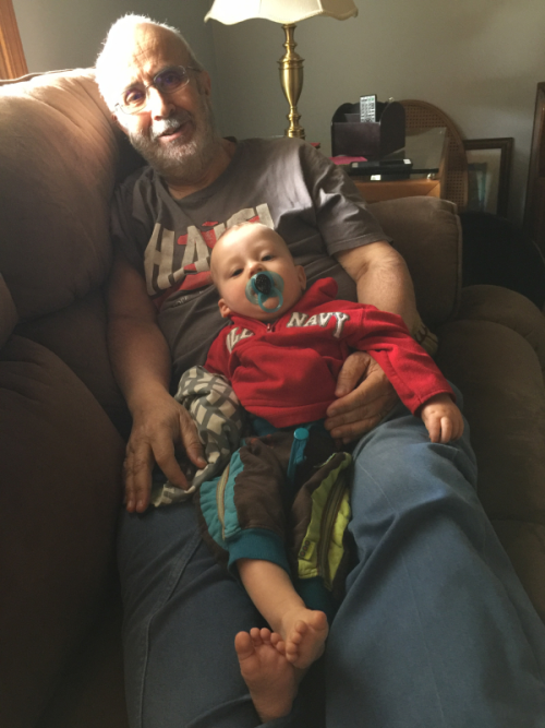 Some special time with my youngest grandson