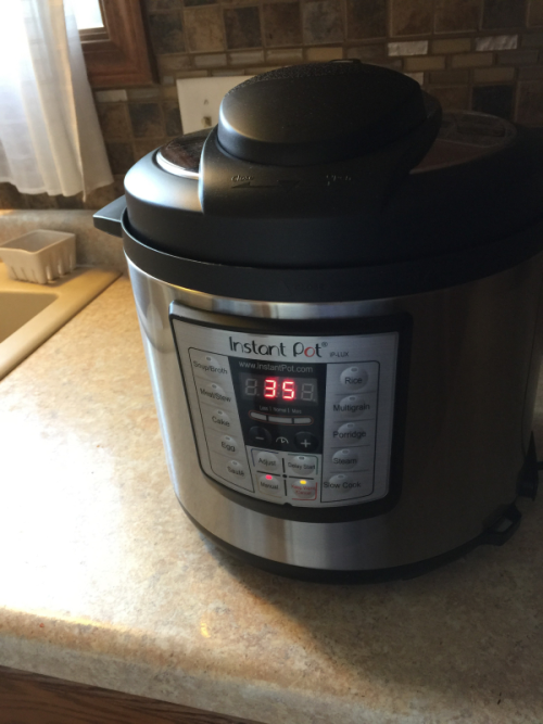 The timer on the Instant Pot is easy to use.
