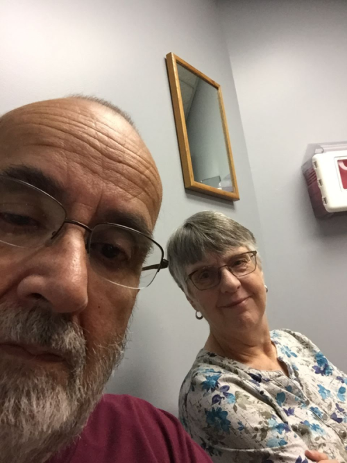 A doctor's office selfie.