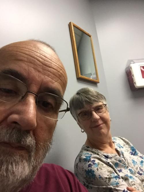 A doctor's office selfie.